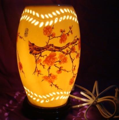 盐岩小夜灯 彩釉陶瓷盐灯