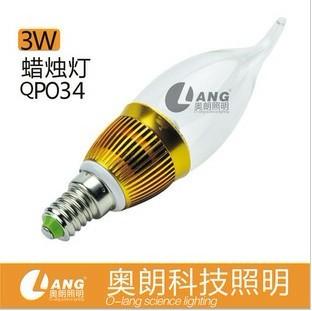 LED节能灯泡球泡蜡烛灯水晶灯投射灯保质2年3W 220V
