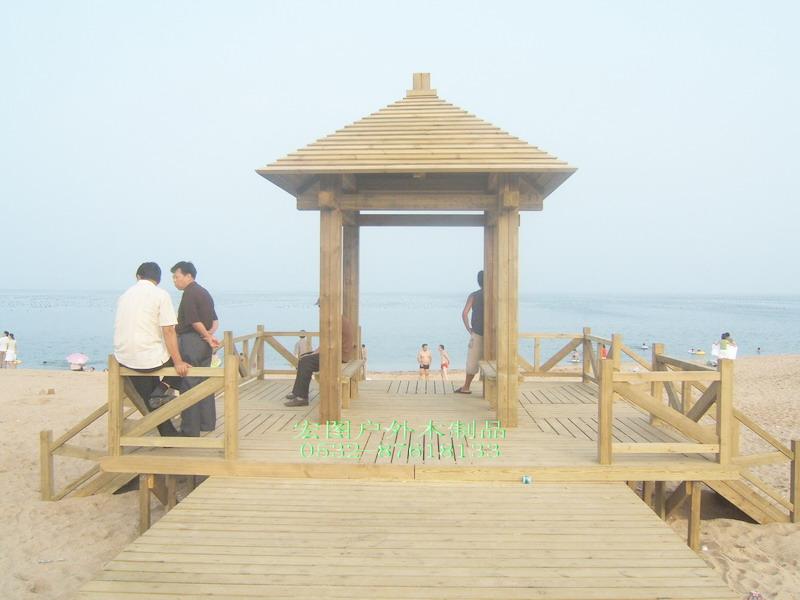 青岛景观木凉亭岗亭