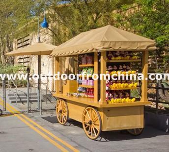 小型活动售货亭,小区售货车,木制销售柜