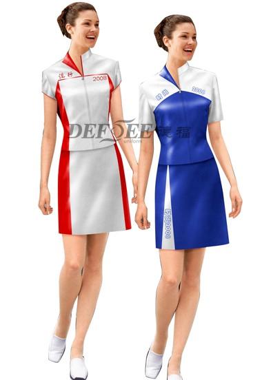 提供2012秋季广交会促销服、礼仪服、展会工作员服装定做