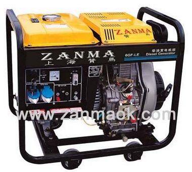 上海赞马6kVA四冲程家用220V电启动186FA动力柴油发电机