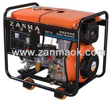 8kVA开架式三相电启动风冷柴油发电机组-上海赞马厂家直销