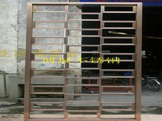 供应板金焊接加工不锈钢屏风电镀加工玫瑰金大门 黑钛金酒架