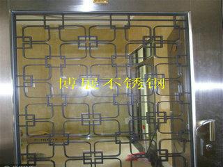 供应不锈钢屏风 加工电镀不锈钢门框 镜框镀古铜玫瑰金