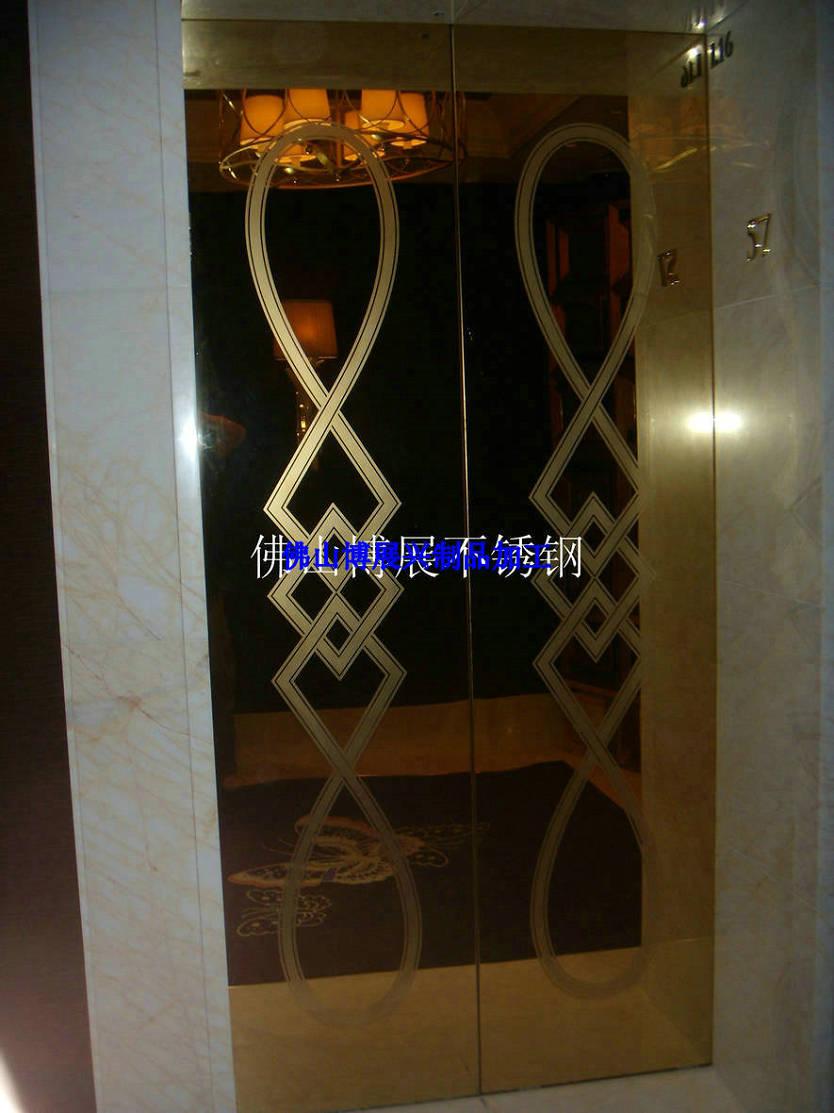 真空电镀不锈钢大门 蚀刻花纹不锈钢包厢门 装饰不锈钢门套