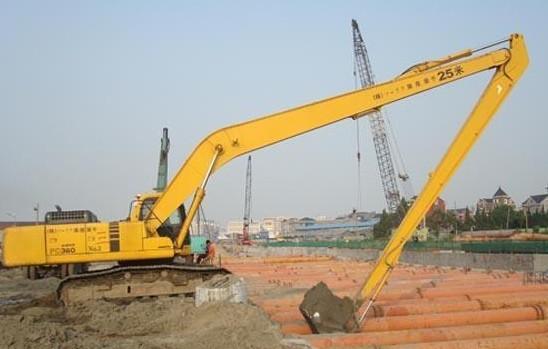 小松350-7挖机勾机挖土机加长臂