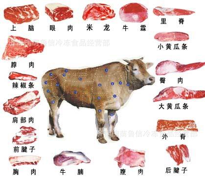 昆明冷冻牛肉 牛