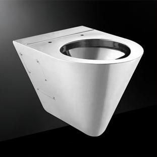 座便器带水槽,不锈钢马桶,不锈钢座便器,壁挂式马桶