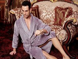男士美舒绒睡袍