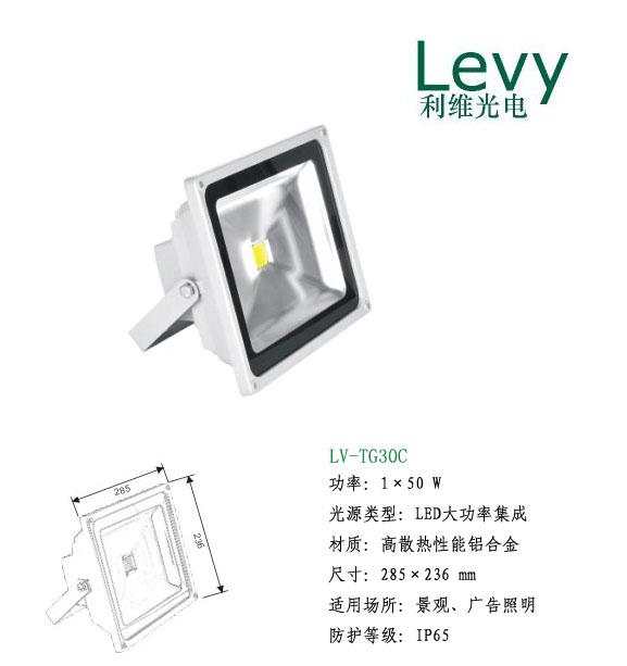 50WLED大功率投光灯,LED大功率灯具生产厂家
