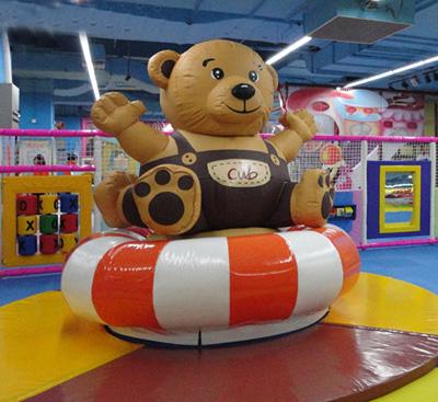 电动淘气堡泰迪熊