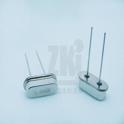 晶振厂家供应HC-49S 4.096MHz石英晶体谐振器