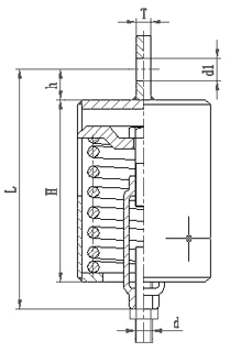 上螺纹悬吊型TD弹簧支吊架