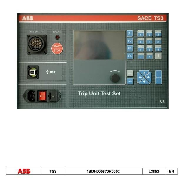 ABB 框架开关脱扣器测试仪TS3 TRIP
