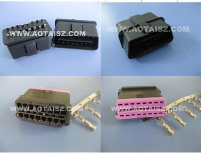 OBD公头转电源插头 ODB2汽车连接线 OBD转接线
