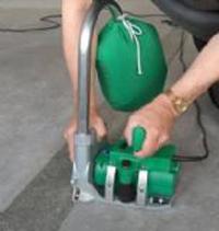 塑料地板运动地板LEISTER进口自动开槽机Groover天津