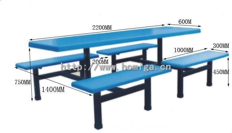 玻璃钢快餐桌椅,供应给学校,工厂饭堂的玻璃钢快餐桌椅