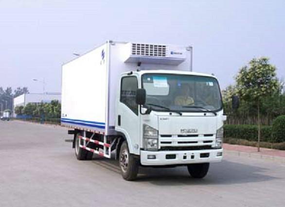 汽车有限公司   厢体长度6米左右的冷藏货车丨五十铃冷藏车高清图片