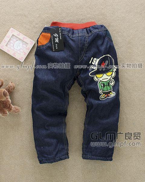 童装加厚绒牛仔裤批发儿童双层牛仔裤批发男童保暖牛仔裤批发小孩牛仔
