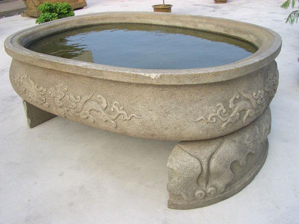 名家精品石雕鱼缸 花钵 花瓶 宝瓶