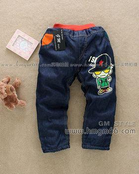 上海童装牛仔裤批发上海绒裤批发上海儿童裤子批发上海童装批发市场