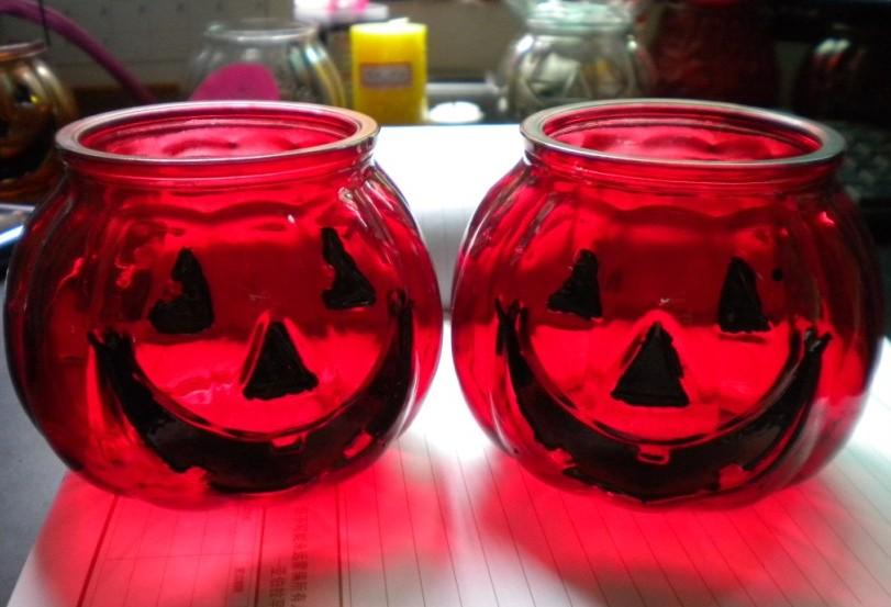 玻璃蜡烛台,蜡烛玻璃瓶,工艺蜡烛台,笑脸蜡烛台