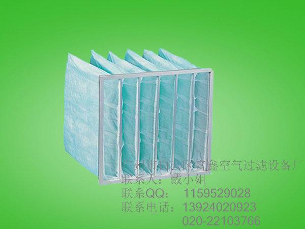 洁净间二级过滤F6绿色袋式过滤网