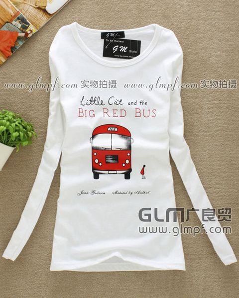便宜低价女装打底衫批发时尚女式打底衫批发春季白色女装T恤批发市场