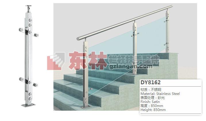 玻璃不锈钢楼梯栏杆立柱厂家供应-楼梯扶手配件-游泳池钢化玻璃栏杆