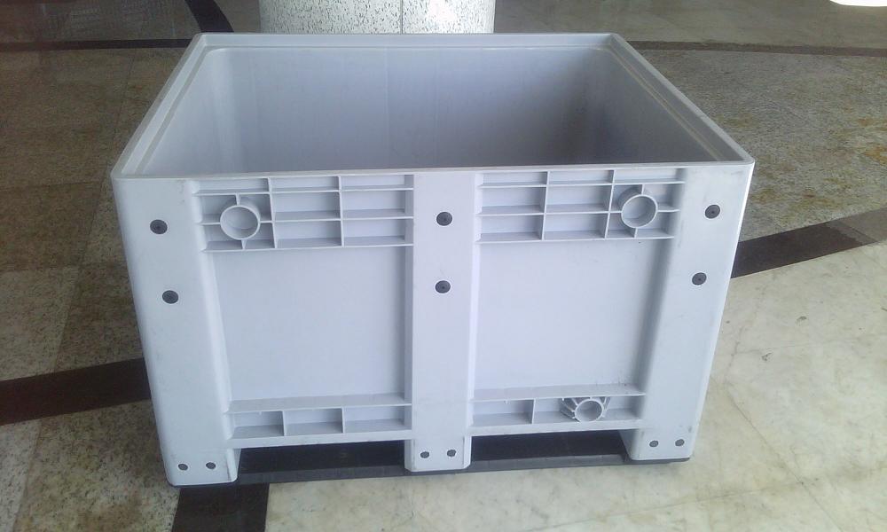 上海塑料卡板箱1200*1000*760大型塑料箱托盘底