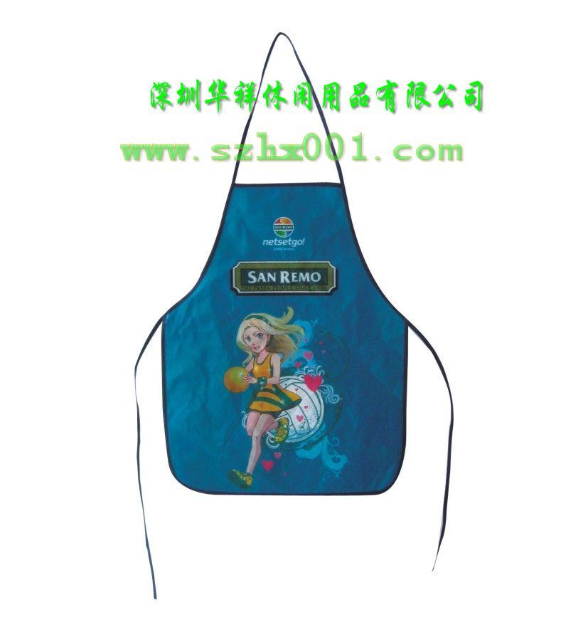 深圳广告围裙厂家,无纺布围裙订做