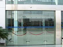 北京玻璃门安装 感应玻璃门电子锁安装