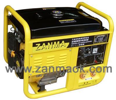 5kW电启动190动力单相汽油发电电焊两用机组200A