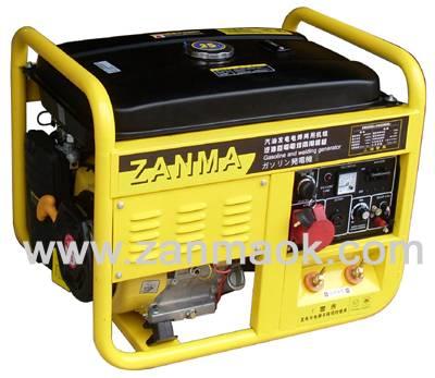 5kW电启动190动力三相汽油发电电焊两用机组200A