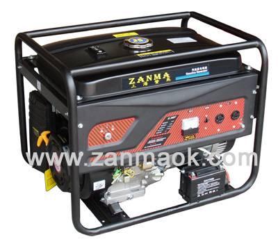 上海赞马8kW单相电启动190动力汽油稀土永磁发电机组