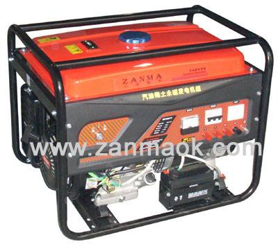 上海赞马8kW三相电启动汽油稀土永磁发电机组