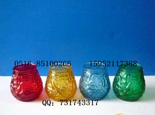 各种玻璃烛台瓶 喷色烛台瓶