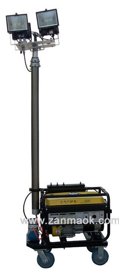 移动照明灯车配置2kW汽油发电机组,厂家直销