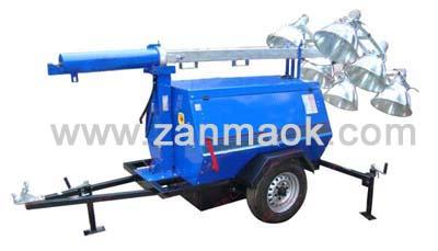 移动照明灯车10kW水冷柴油发电机组-自发电移动照明灯塔