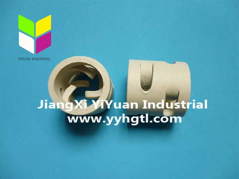 江西萍乡38mm陶瓷鲍尔环,50mm陶瓷鲍尔环填料