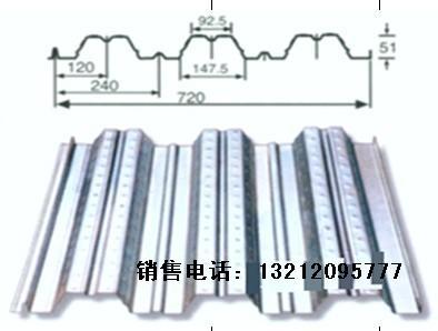 yx51-240-720开口钢承板,镀锌楼承板,承重板,天津压型钢板厂家