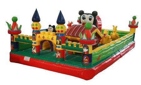 2013年新款充气城堡,60平方熊出没充气城堡
