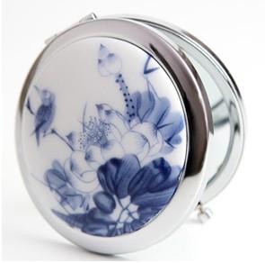 青花瓷化妆镜|美容院促销|广告促销礼品