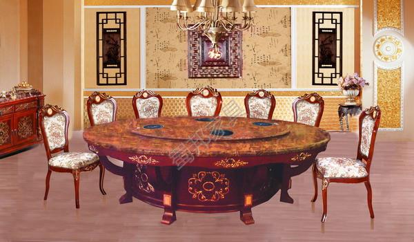 佛山创锦酒店餐桌-实木餐桌-餐饮设备
