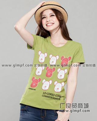 2013年流行的女装批发广州夏季男女短袖T恤批发网上最好卖T恤批