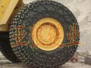 施工工地各工程机械专用轮胎保护链|轮胎防滑链