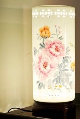 景德镇陶瓷台灯 中式复古薄胎灯 创意灯具