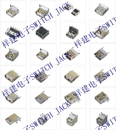usb插座链接/usb插座焊接/usb插座焊线/usb插座接线