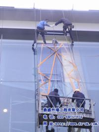 高空幕墙玻璃安装